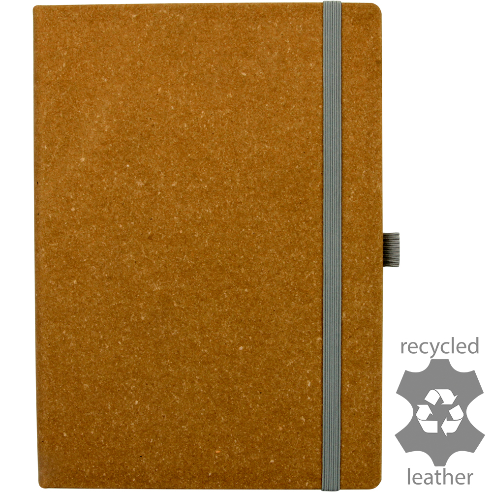 Darwin Recycled Leather Ruled A5 Notebook - INDENT ONLY