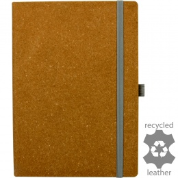 Darwin Recycled Leather Ruled & Numbered A5 Notebook