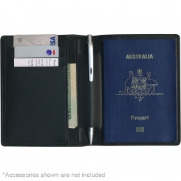Protector RFID Passport Wallet - Split Leather