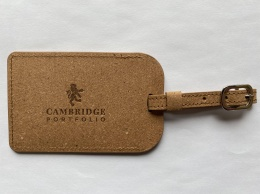 Heathrow Luggage Tag - Recycled Leather